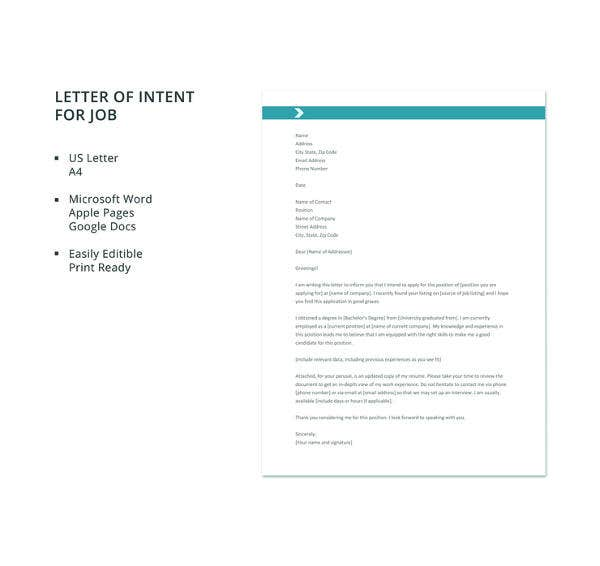 Letter Of Intent Examples Job from images.template.net