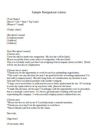 Word Template Resignation Letter from images.sample.net