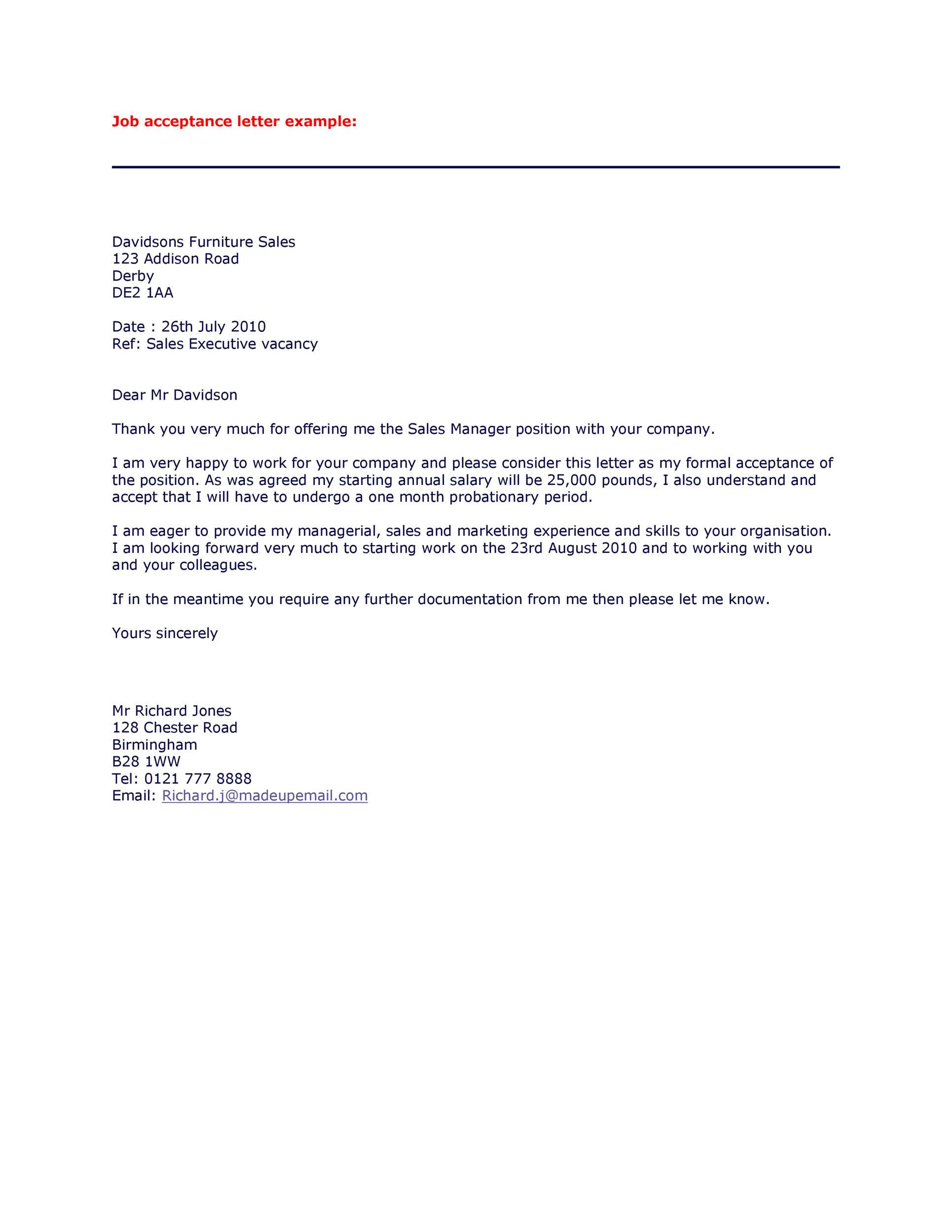 Offer Letter Email Template from templatelab.com