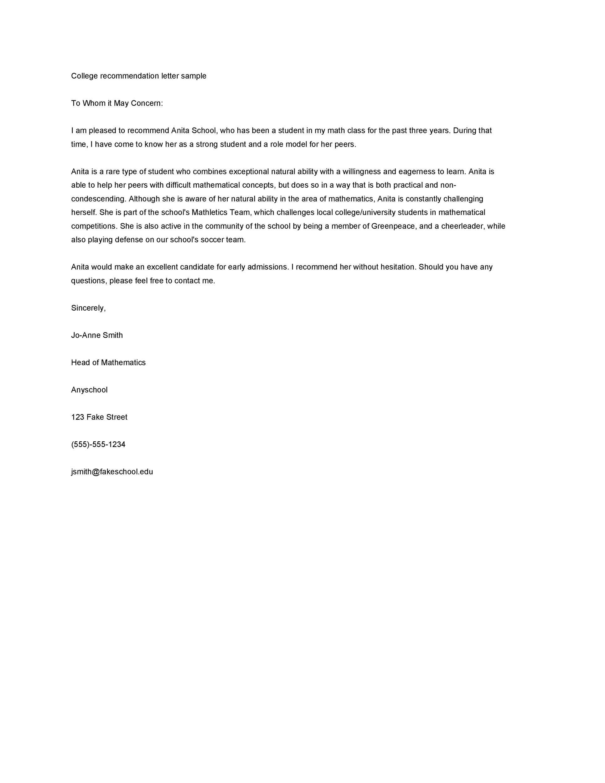 Formal Letter Template For Students from templatelab.com
