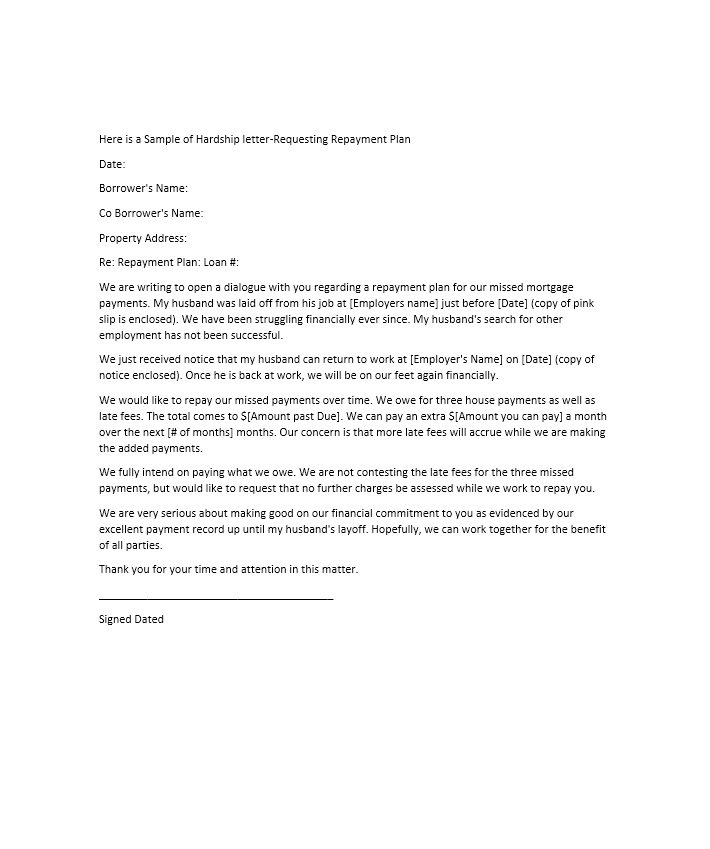 Example Of A Hardship Letter For A Mortgage Loan Modification from mthomearts.com