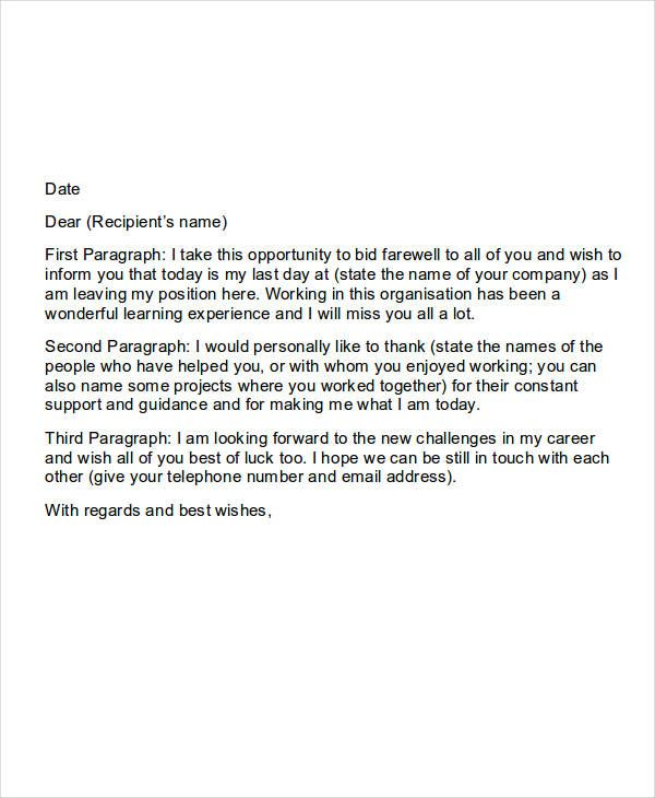 Leaving Letter To Colleagues from i.pinimg.com