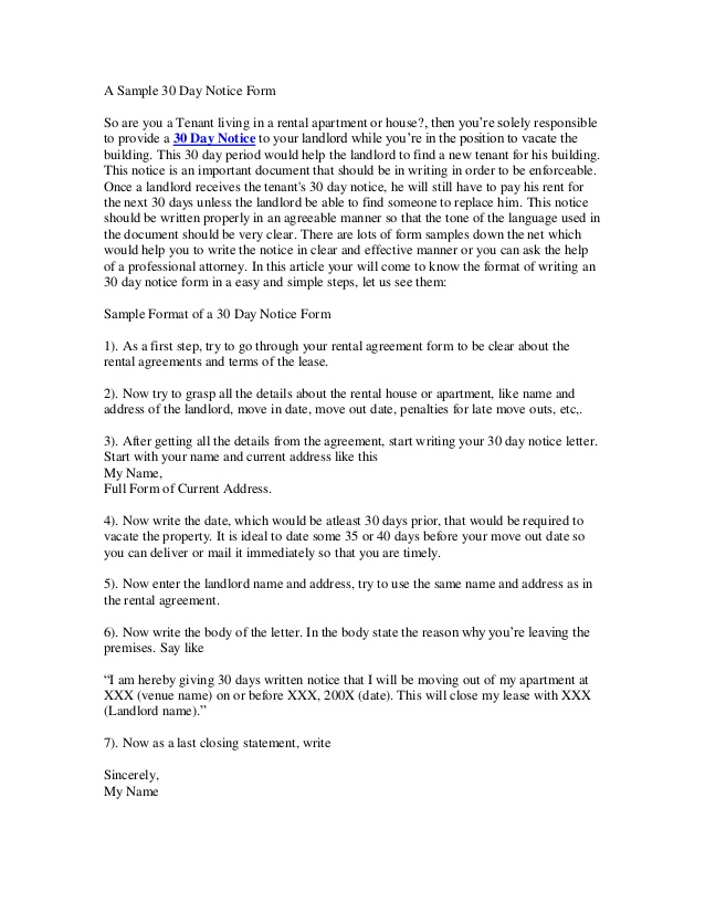 Apartment 30 Day Notice Letter Template from image.slidesharecdn.com
