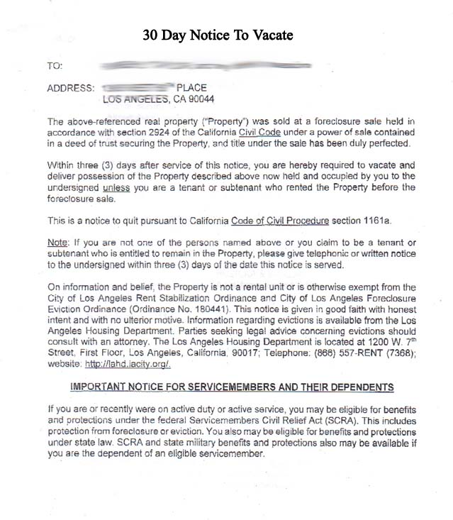 30 Days Notice Letter To Landlord Sample from www.print-fair.net