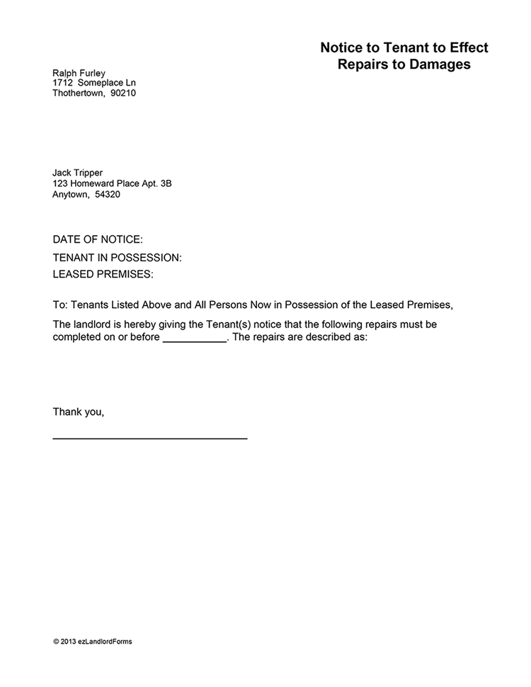 Letter Notifying Landlord Moving Out from i.pinimg.com
