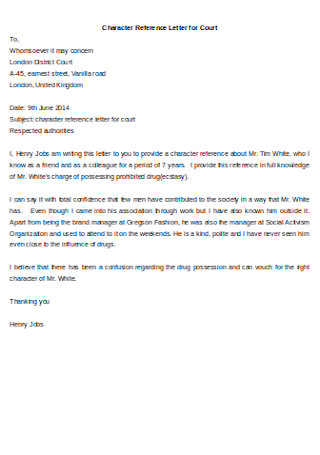 Character Recommendation Letter For A Friend from images.sample.net