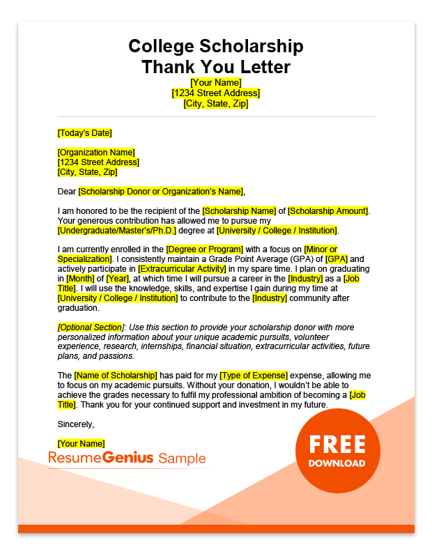 Thank You Letter To Organization from resumegenius.com