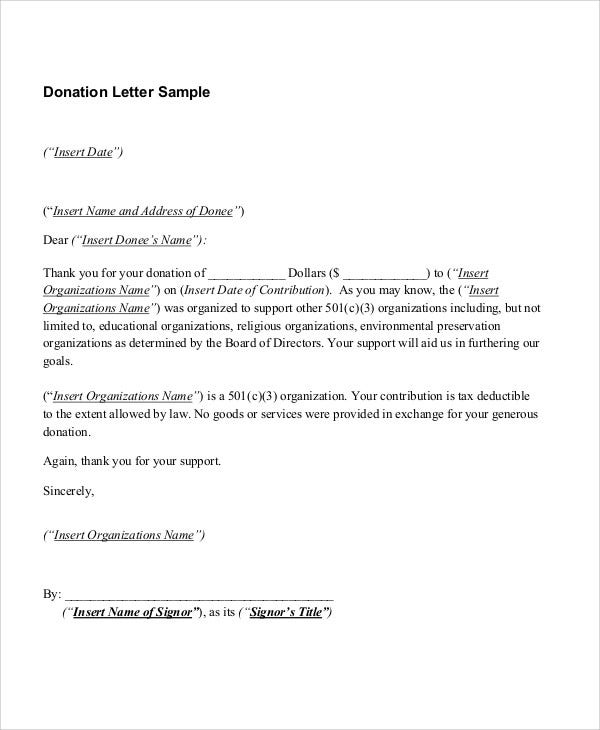 Sample Letter For Donation Of Goods from images.template.net
