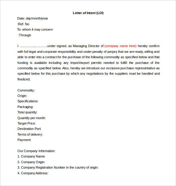 Letter Of Intent To Lease Commercial Property Pdf from images.template.net