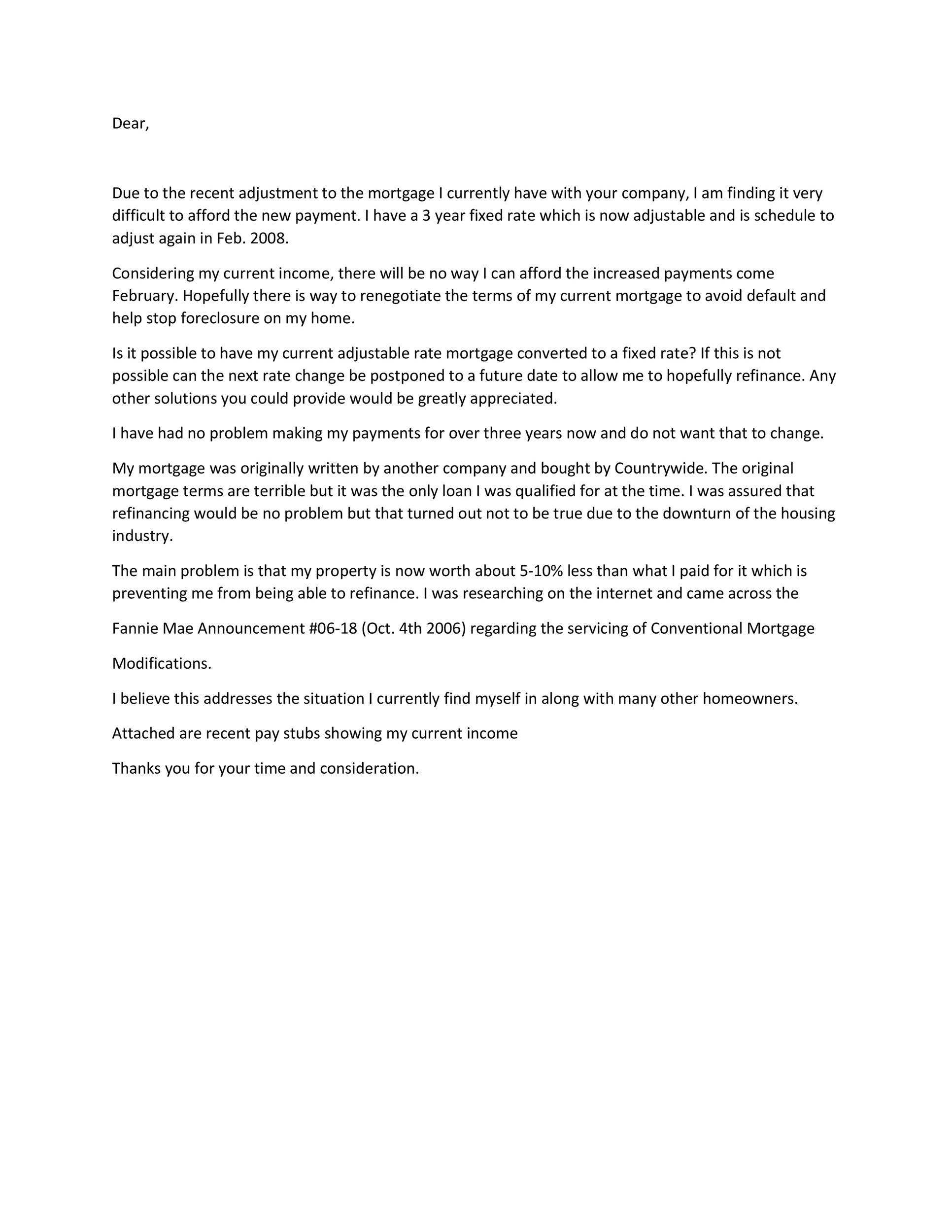 Hardship Letter For Mortgage from templatelab.com