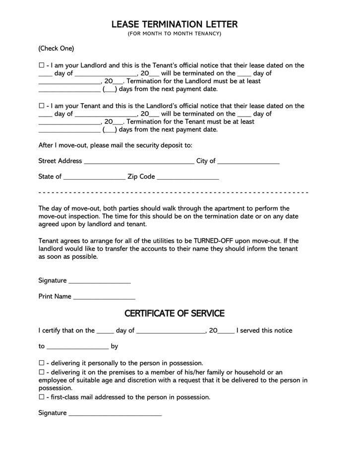 Lease Termination Letter Example from www.wordtemplatesonline.net