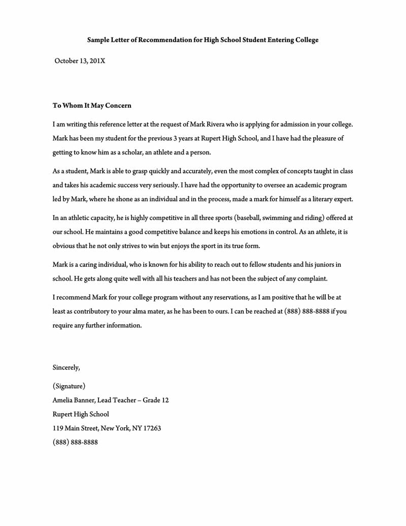 Letter Of Recommendation For A Colleague For Your Needs ...
