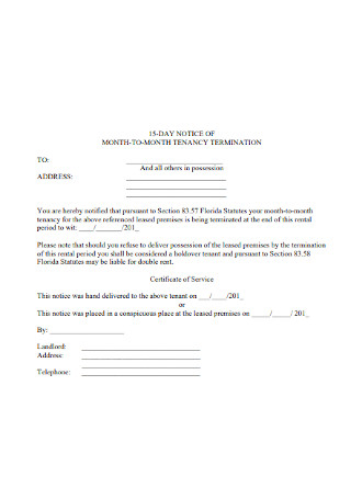 Month To Month Lease Termination Letter Template from images.sample.net
