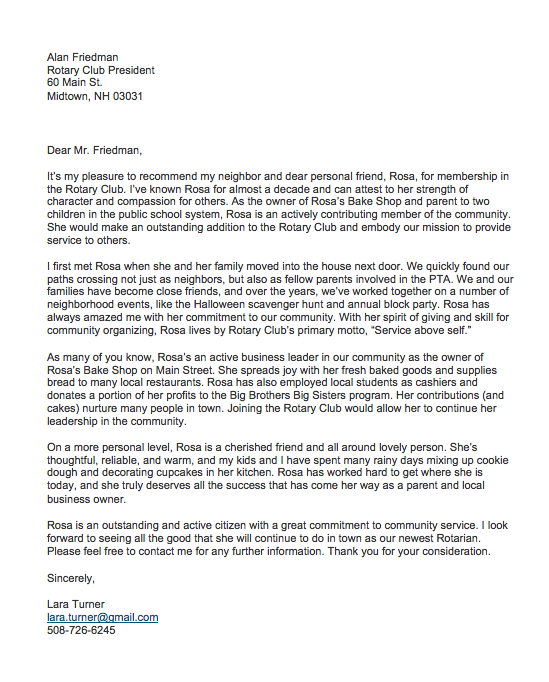 Letter Of Recommendation From A Friend from topformtemplates.com