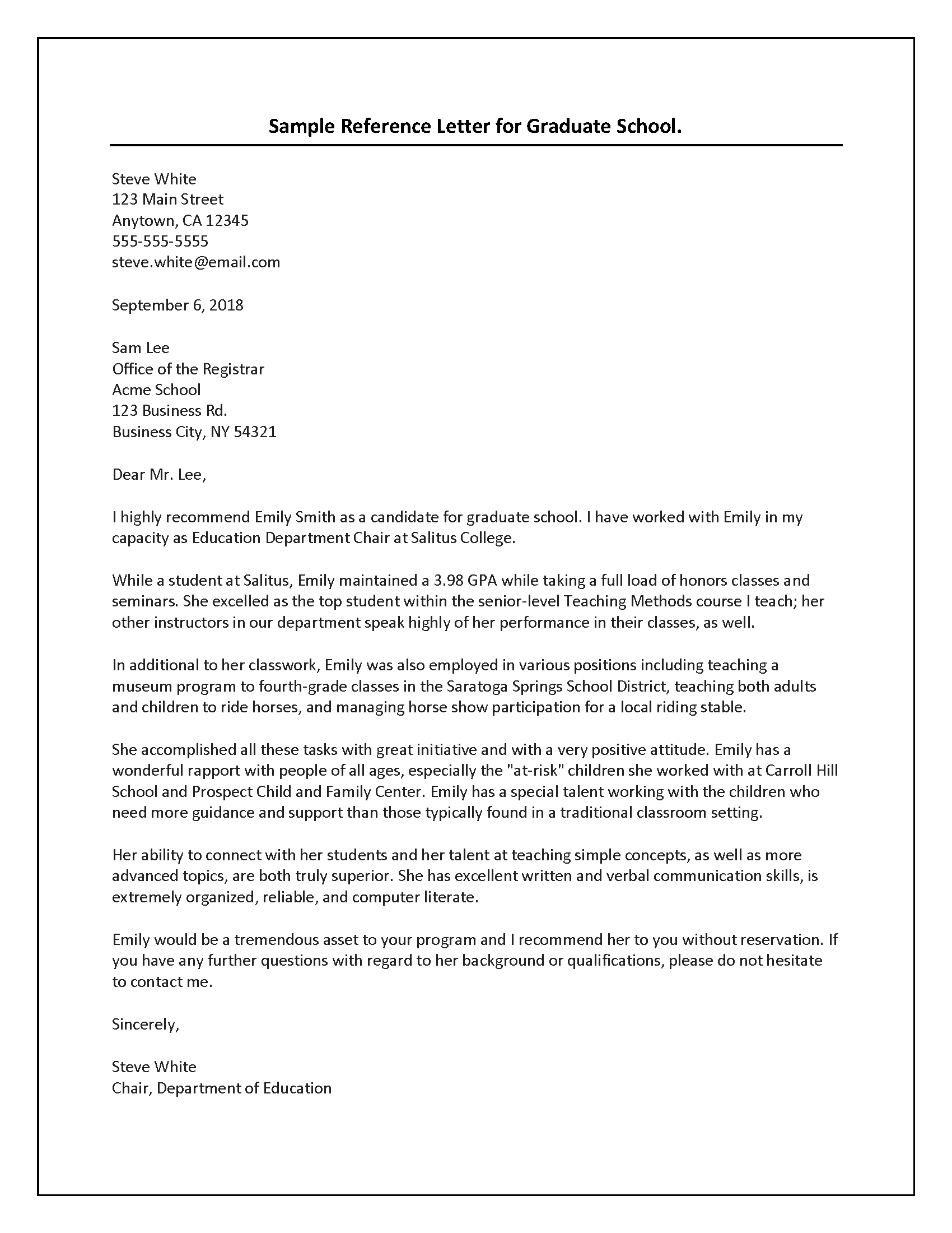 Student Letter Of Recommendation Template from scholarshipfellow.com