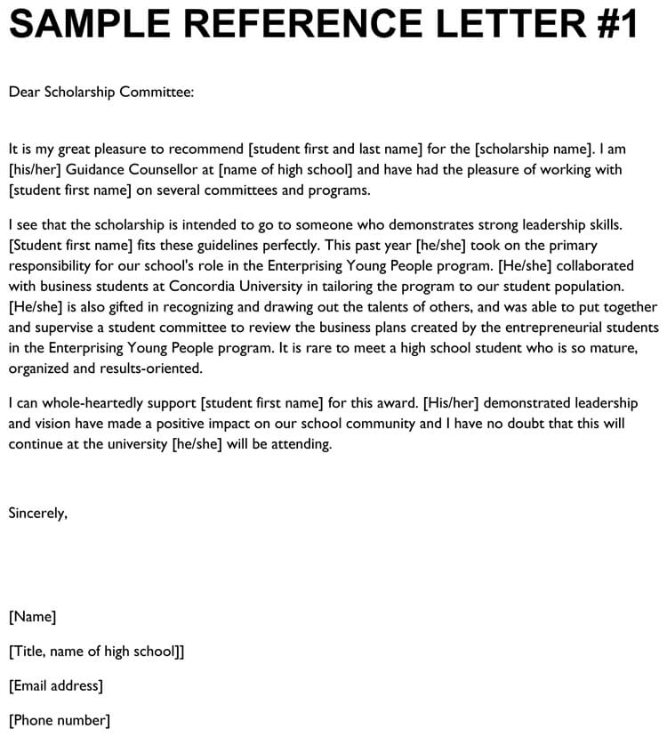 Writing A Letter Of Recommendation For A Highschool Student from www.wordtemplatesonline.net