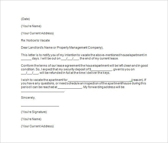 Letter To Vacate Apartment from images.template.net