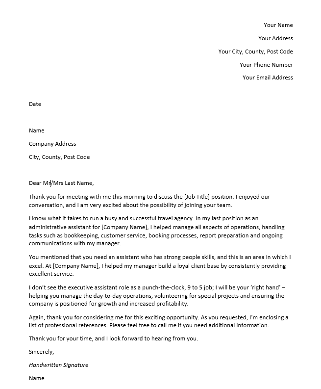 Thank You Letter Before Interview from cdn2.careeraddict.com