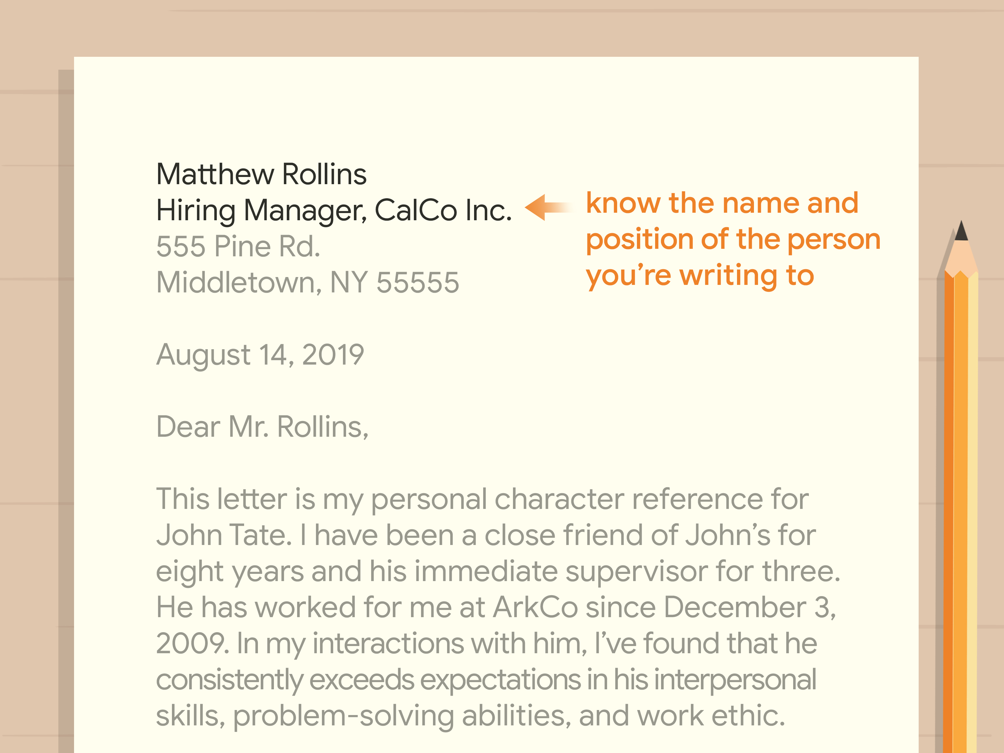 Character Reference Letter Template Word from www.wikihow.com