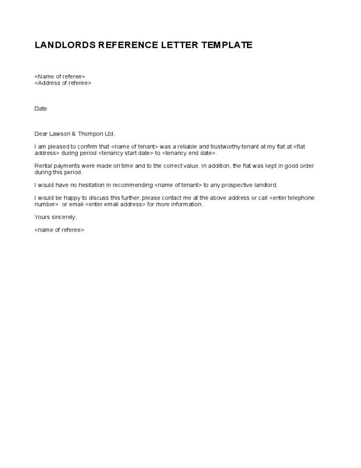 Letter Of Reference For Tenancy from i.pinimg.com