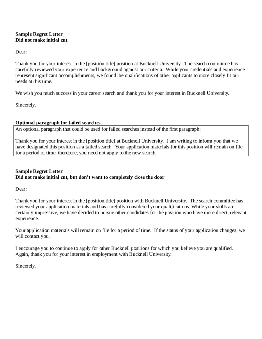 Applicant Rejection Letter Template from handypdf.com