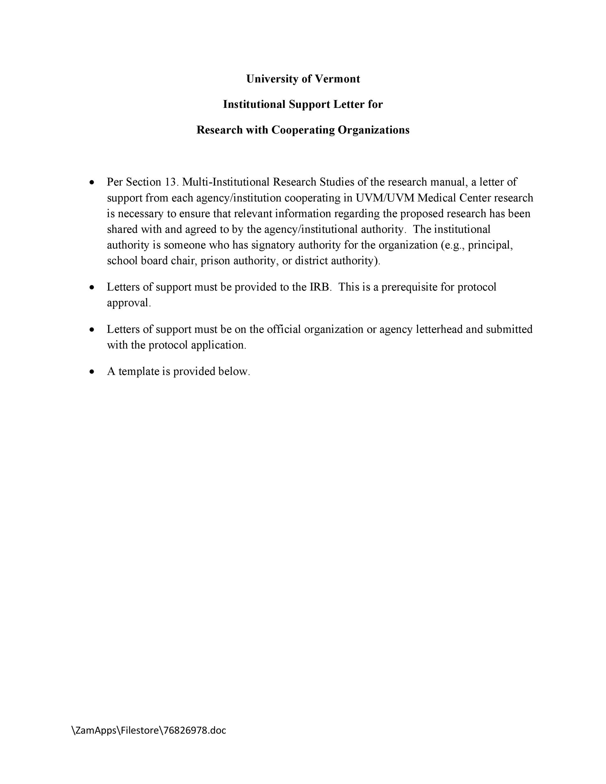 Letter Of Support Templates from templatelab.com