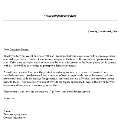 Thank You Letter Business from www.samplewords.com