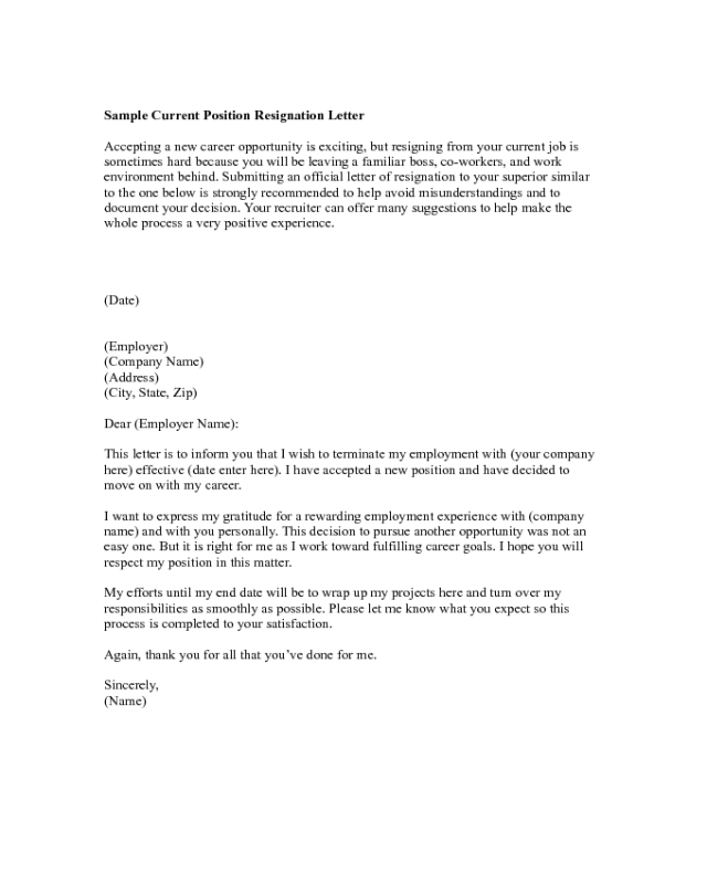 One Week Notice Resignation Letter from handypdf.com
