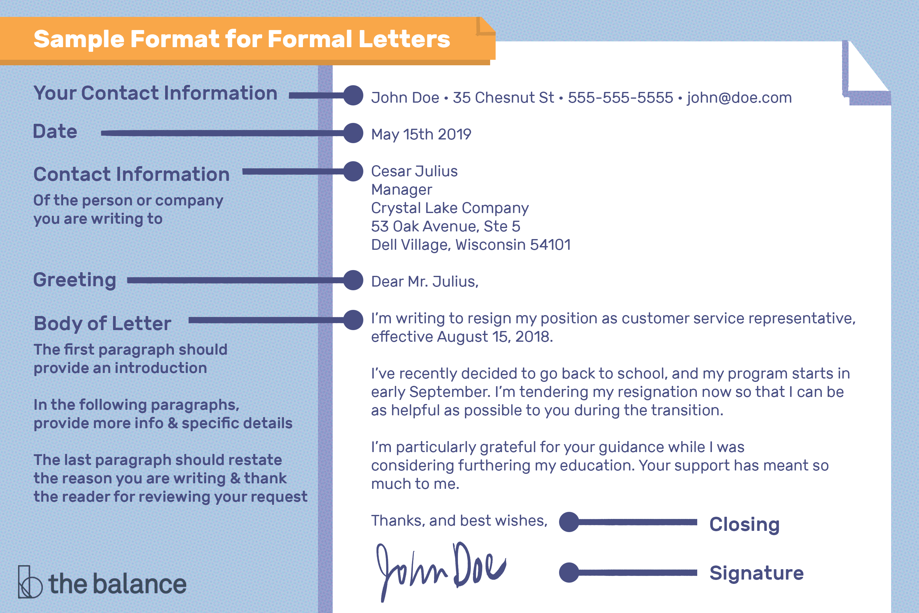 Structure Of A Business Letter from www.thebalancecareers.com