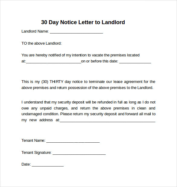 Writing A 30 Day Notice Letter To Landlord from images.sampletemplates.com