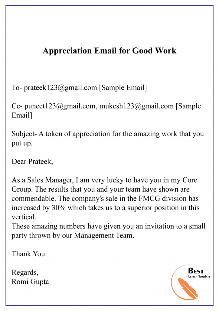 Letter Of Appreciation Template from bestlettertemplate.com