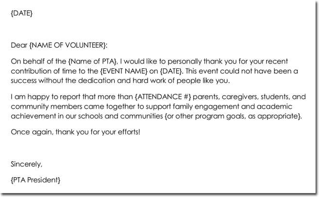 Letter Of Appreciation For Volunteer from www.doctemplates.net
