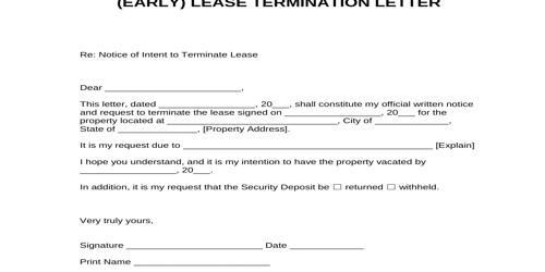 Early Termination Of Lease Letter from www.assignmentpoint.com