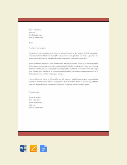 Character Reference Letter Template Word from images.template.net