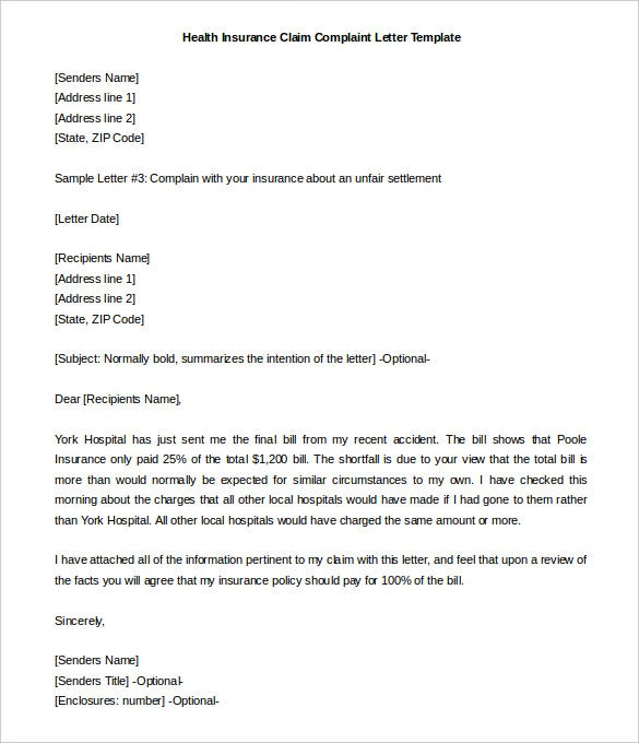 Complaint Letter To Insurance Company Sample from images.template.net