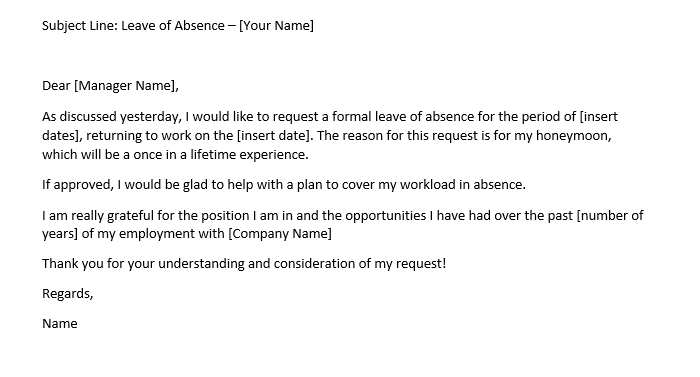 Leave Of Absence Letter Templates from cdn1.careeraddict.com