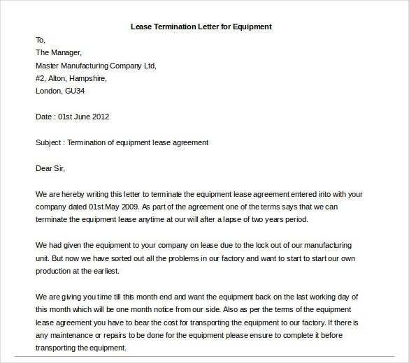 Lease Termination Letter Example from images.template.net