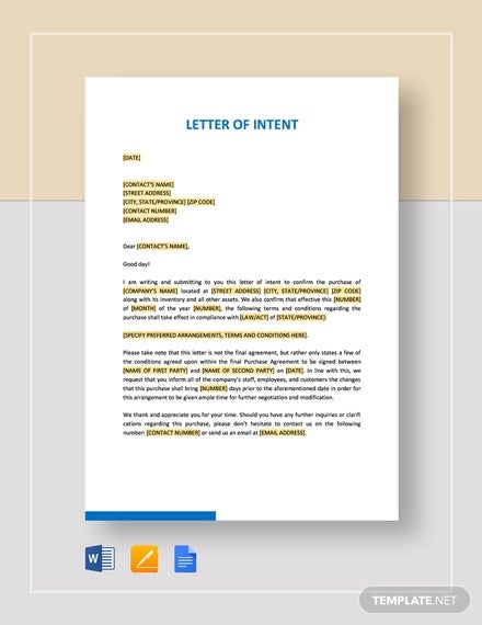Letter Of Intent To Donate Property from images.template.net