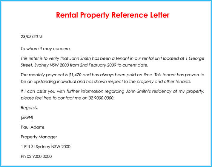 Reference Letter For Rental Property from www.wordtemplatesonline.net