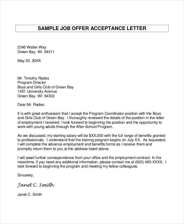 Template For Job Offer Letter from images.template.net