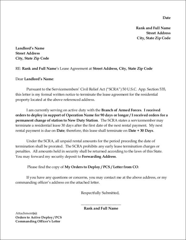 Apartment Lease Termination Letter from images.sampletemplates.com