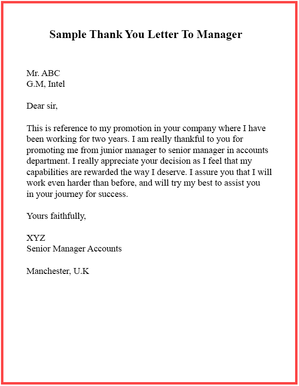 Sample Letter To Manager from thank-you-letter.net