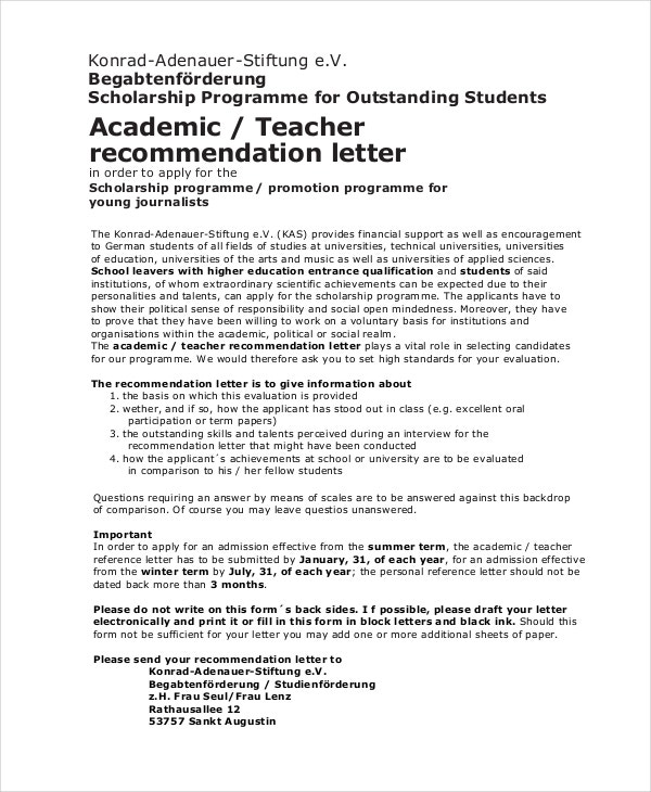 Reference Letter For Student From Teacher from images.template.net