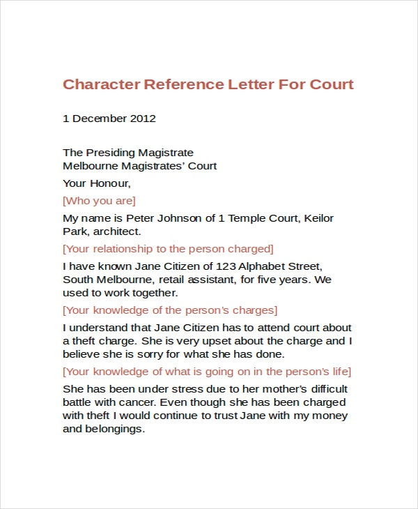 Letter Of Good Character For Court from images.template.net