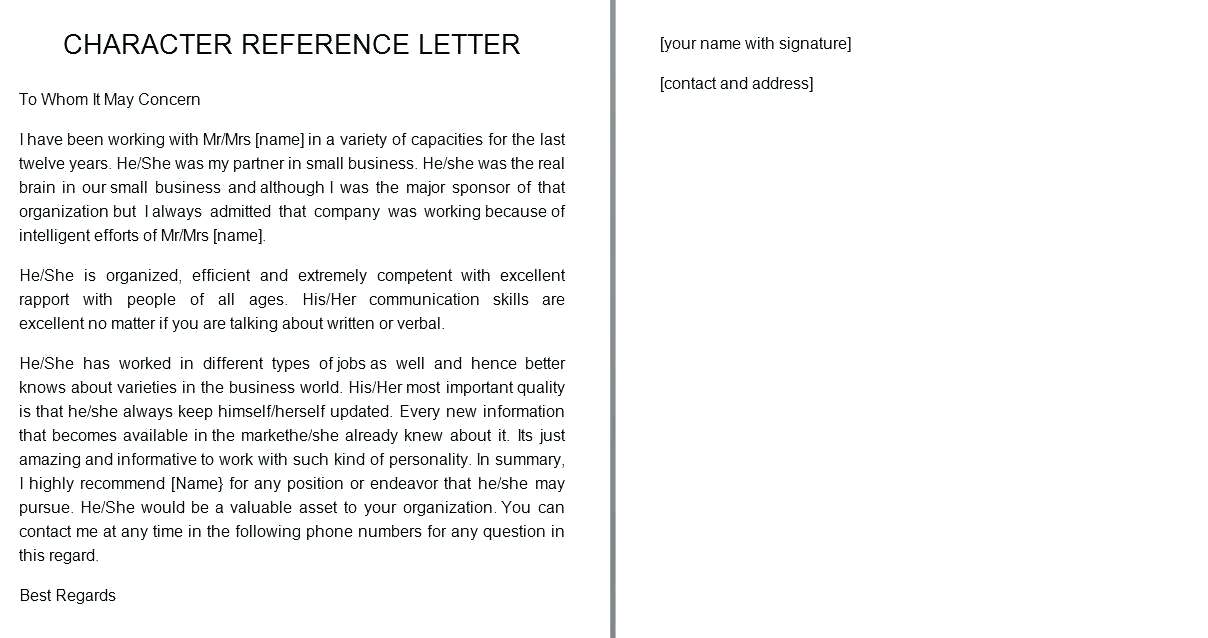 Sample Letter Of Character Reference from www.realiaproject.org