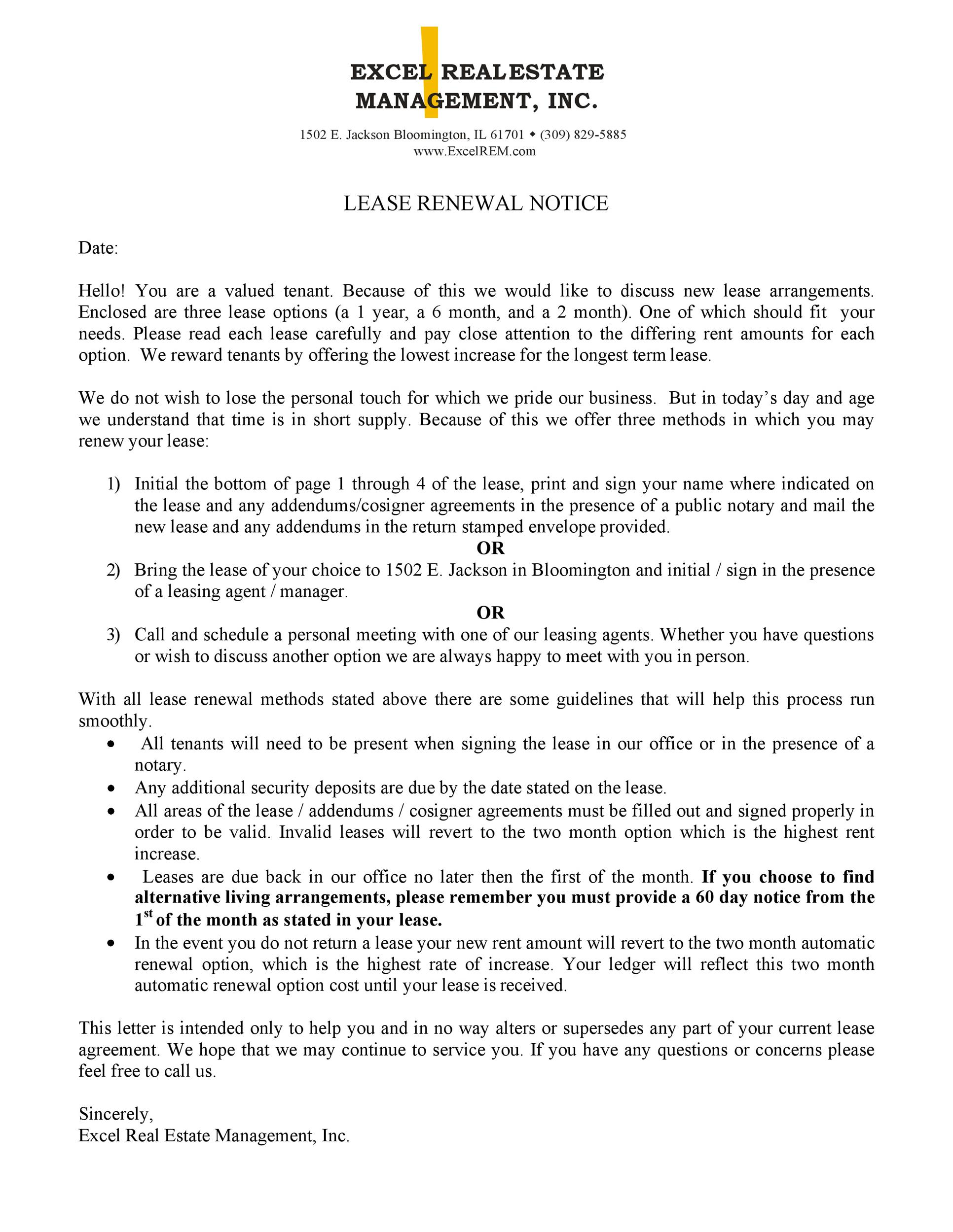 Sample Letter Landlord To Tenant Not Renewing Lease from templatelab.com