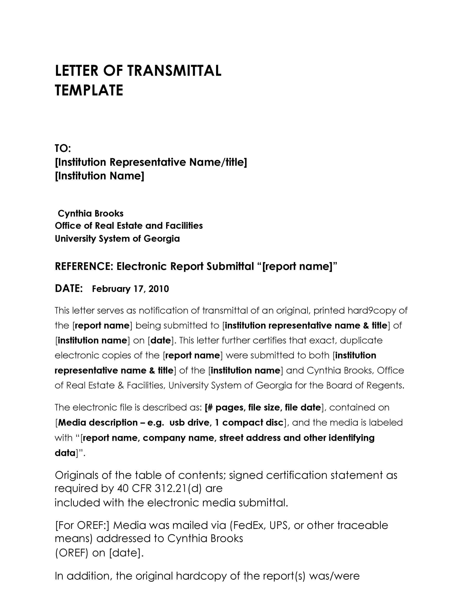 Letter Of Submittal Template from templatelab.com