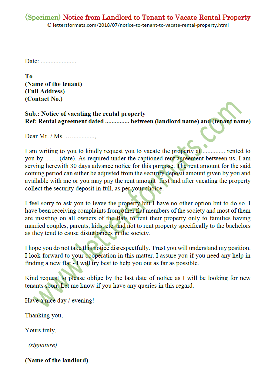Sample Letter To Vacate Rental Property from 1.bp.blogspot.com